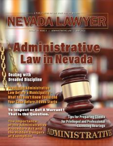 Nevada Lawyer magazine - May 2021