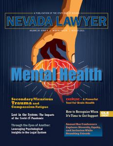 Nevada Lawyer Magazine - August 2021 - Mental Health