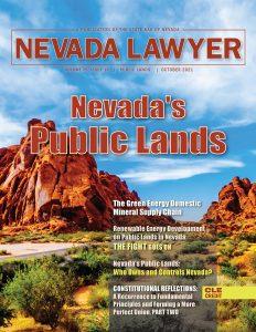 Nevada's Public Lands - Nevada Lawyer magazine - Oct. 2021