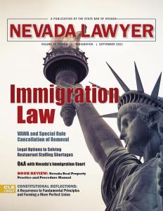 Nevada Lawyer Magazine: September 2021