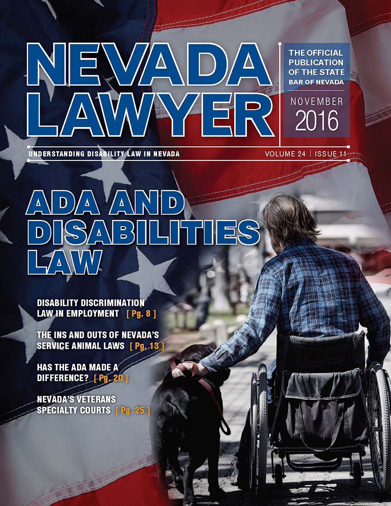 Nevada Lawyer November 2016
